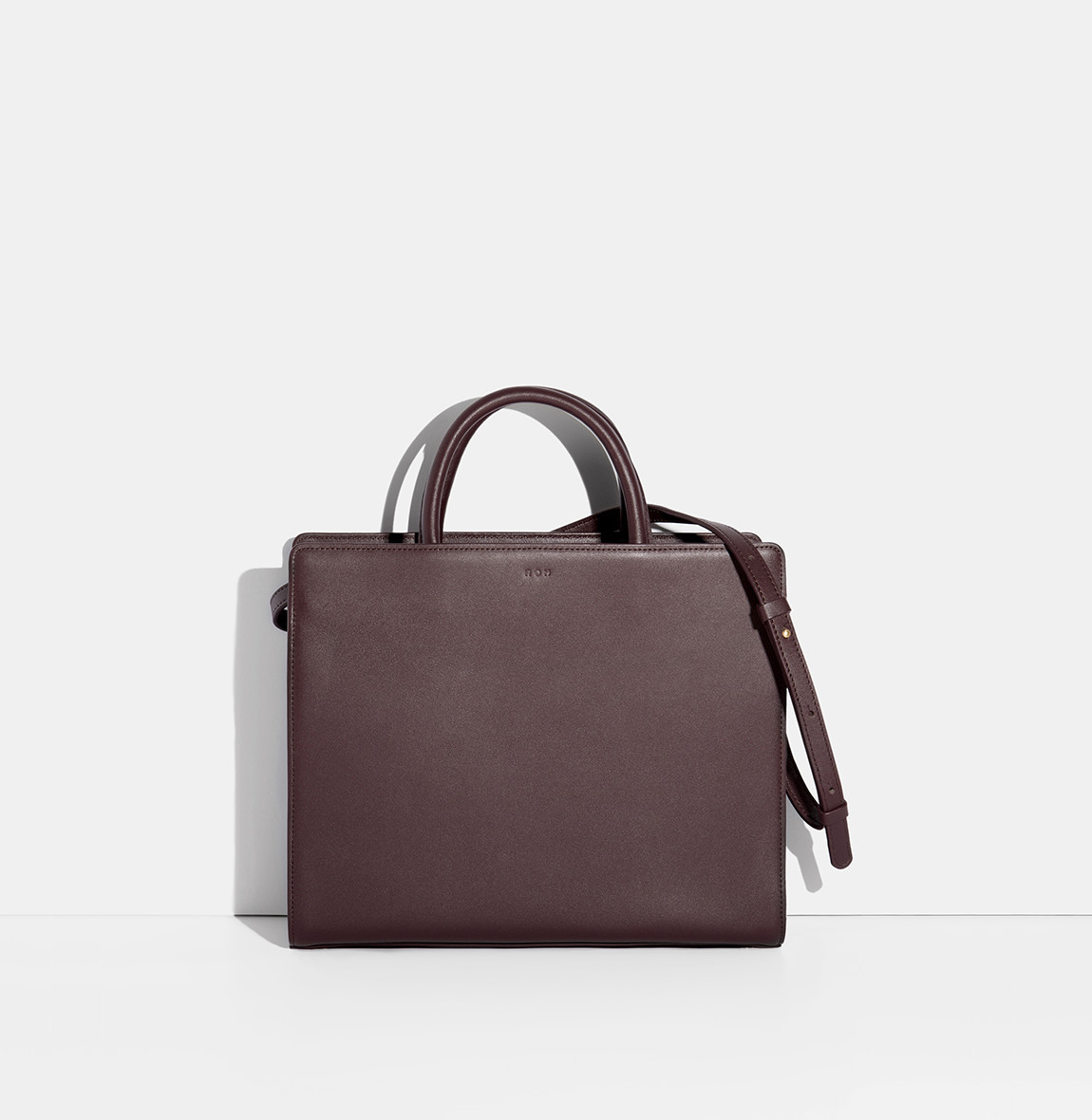 Square Tote Bag Burgundy