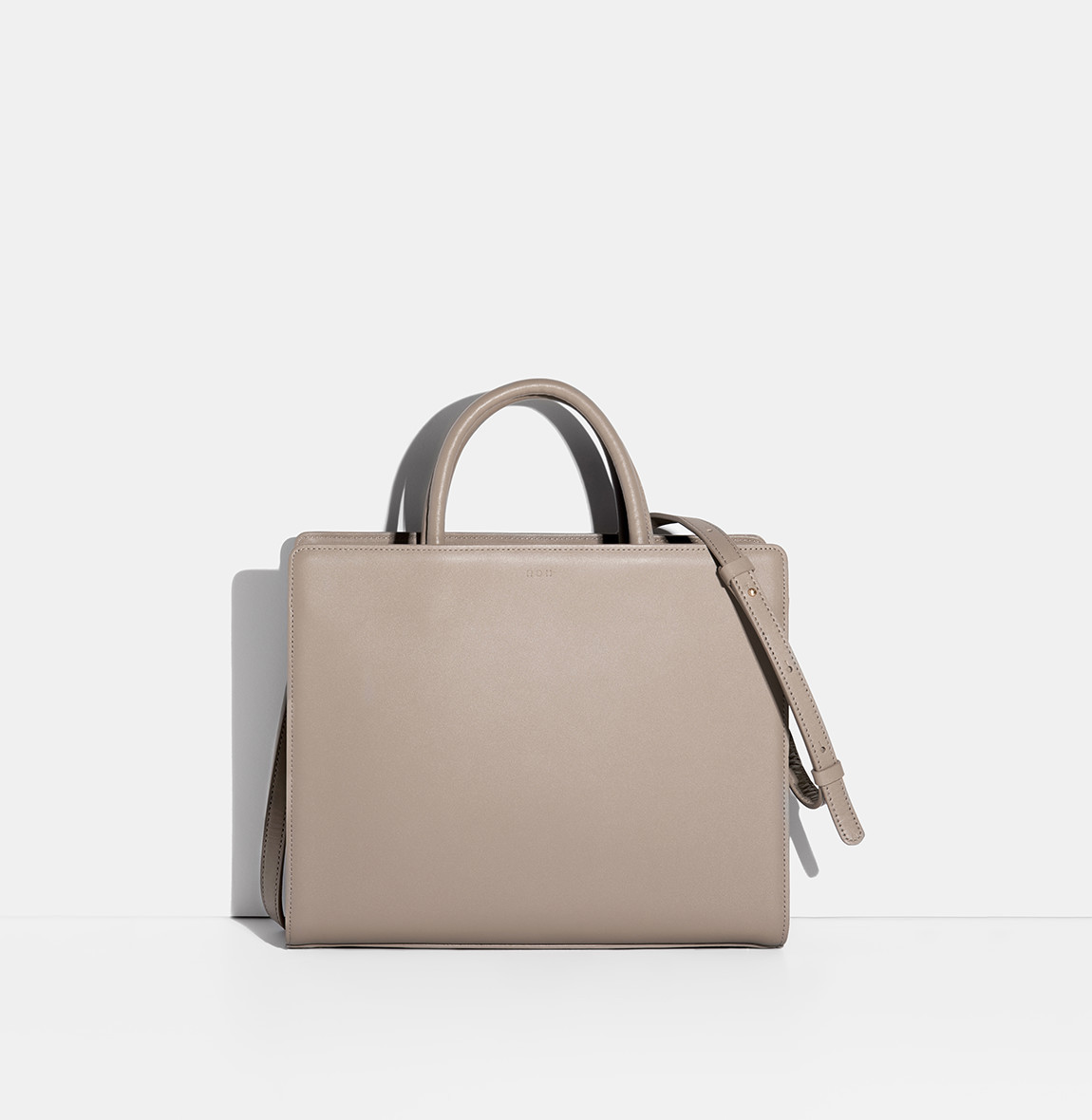 Square Tote Bag Beige