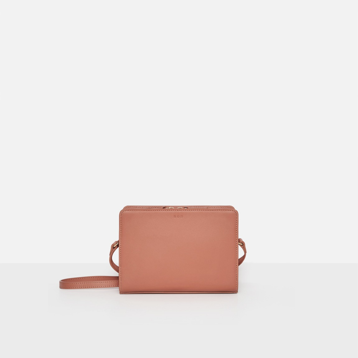 Square small shoulder bag Amber coral