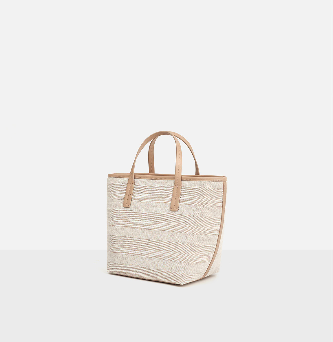 Juty-line tote bag Light ocher