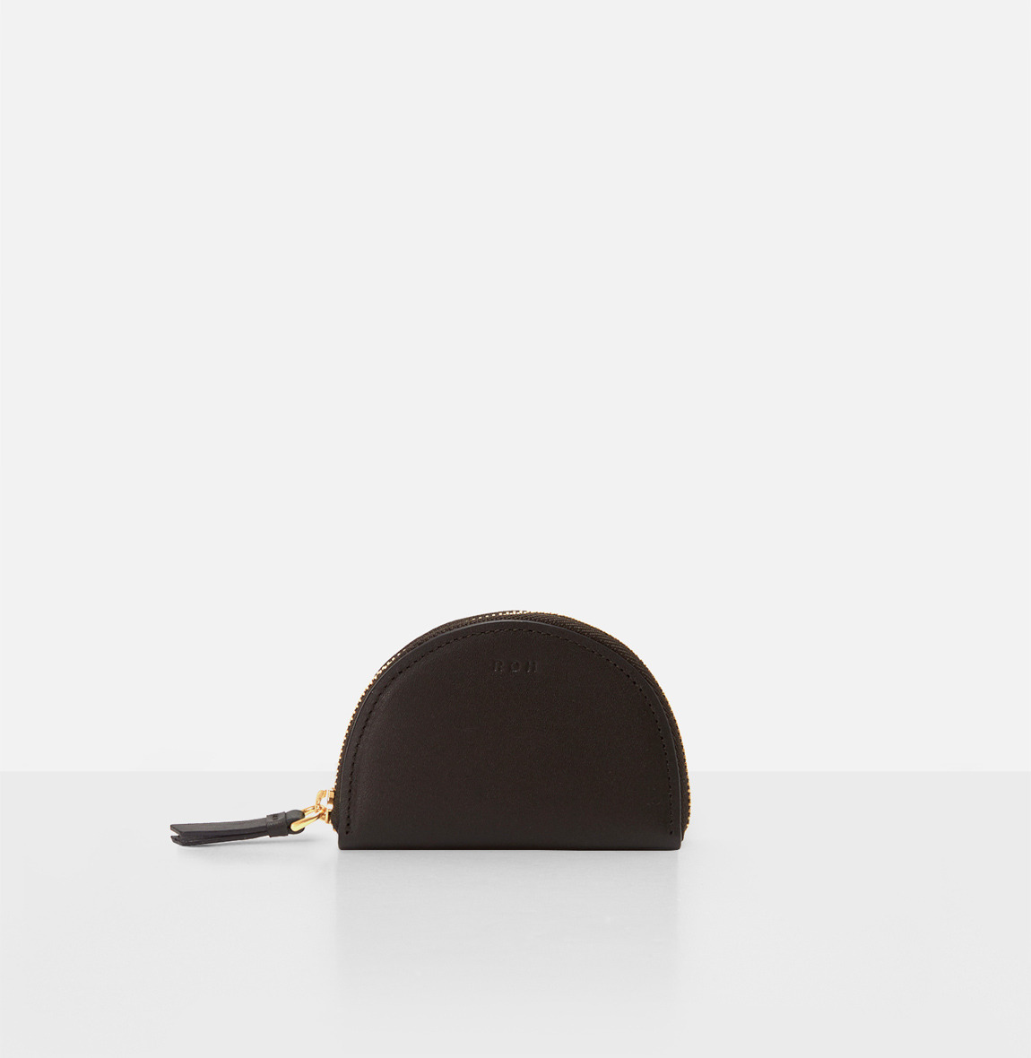 Half moon coin zip wallet Umber