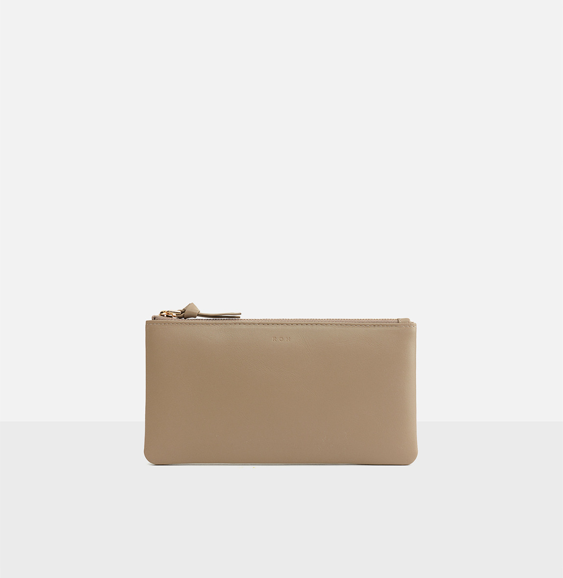 Square large zip wallet  Beige