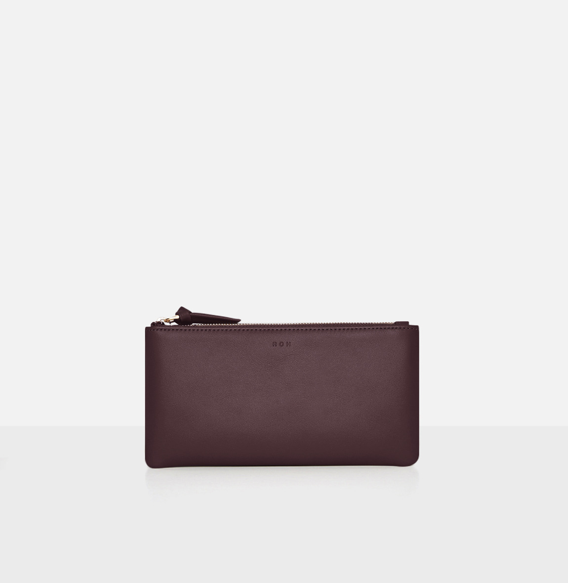 Square large zip wallet Burgundy
