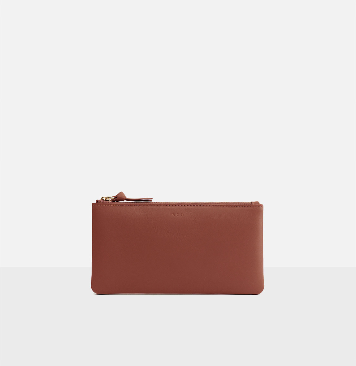 Square large zip wallet Copper
